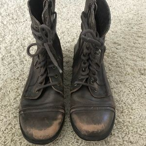 Brown faded Lace up Diba Boots
